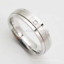 Shenzhen personalizada de acero inoxidable baratos anillo de bodas