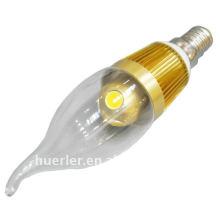 Nouvelle conception 3w e27 e14 lampe à lampe à la bougie