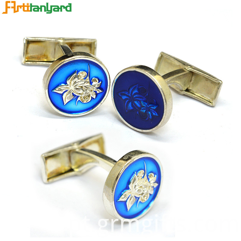 Cufflink With Soft Enamel