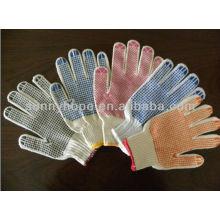 Cor PVC ponto tricô trabalho luvas