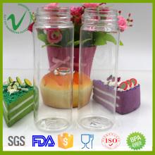 Flasques à bouteilles en plastique de 8 oz à rond bouteilles pour l'emballage de jus