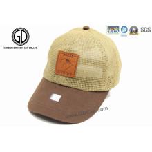 Chapéu de palha de lazer de boa qualidade personalizado / boné de beisebol de palha