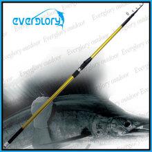 Barre de pêche de canne à pêche de carbone de bonne performance mélangée de carbone