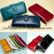 High Quality Fashion Women Wallet, Zipper Long Leather Purse, Top Ladies Unqiue Design Wallet