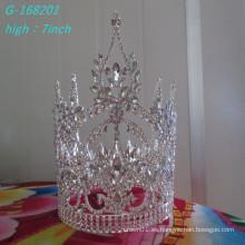 El desfile grande de la perla de la manera al por mayor corona la alta corona llena de la novia
