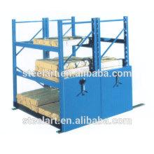 Тяжелые металлические для хранения мобильного склада стеллажами