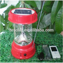 2015 heißer Verkauf Produkt Tragbare Camping Solar licht Mit Mobie Ladegerät Und Radio