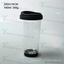 Verrerie personnalisée Fabriqué en verre à double mur à base de borosilicate transparent fait à la main