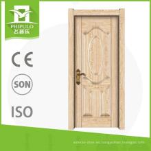 Puerta de madera de la entrada interior de la melamina del precio competitivo con de calidad superior