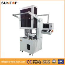 Máquina de marcado láser de tubo de metal redondo / Máquina de marcado de láser rotativa de tubo redondo
