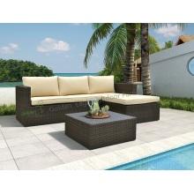 3pcs popular and unique aluminum sofa set
