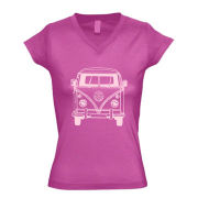 Women's T-shirts, Made of 65% Cotton 30% Polyester and 5% Spandex, Various Sizes are AvailableNew