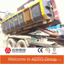 OEM 3*8*15ft metal recycling hooklift bins