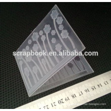 Высокое качество 2015 пластиковая папка тиснение папка для скрапбукинга