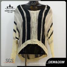 Suéter de mujer negro, ropa de punto