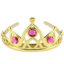 Frau Hochzeit Faux Strass Silber Ton Tiara Krone Stirnband
