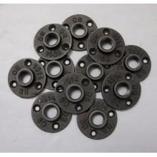 3/4 inch iron flange with 4 holes
