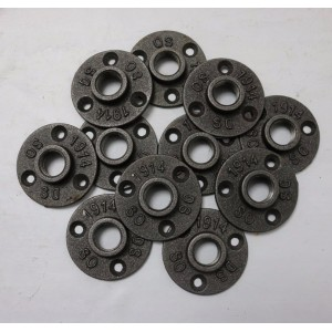 3/4 inch malleable iron pipe floor flange