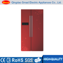 BCD-603 Twin Evaparator color option refrigerator with ice box
