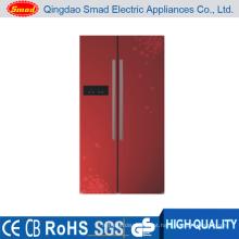 BCD-603 Twin Evaparator geladeira opção de cor com caixa de gelo