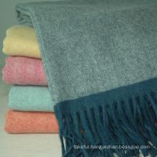 Herringbone Wool Throw Wt-1405011