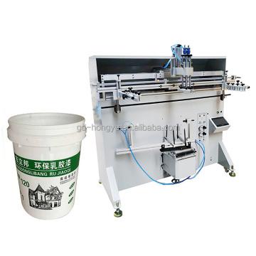 Máquina de serigrafía de barriles de plástico