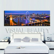 Original Printing Acrylic Painting Cityscape on Canvas for Wall Decor