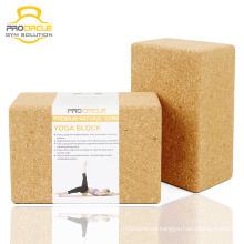 Bloque personalizado de Yoga Natural Cork para el ejercicio