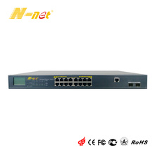 Customized for 10/100M POE Switch with LCD Display 16 Port PoE Managed Gigabit Switch export to Portugal Suppliers