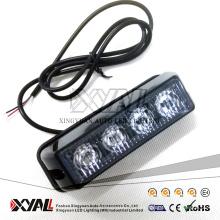 Lighthead amonestador de la parrilla del estroboscópico del ámbar LED del voltaje 4LED de los kits autos populares 2017