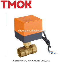 2 way 3 way TMOK electric brass ball valve
