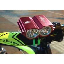4 x 18650 battery pack led bike light 1800 lumen bike front light