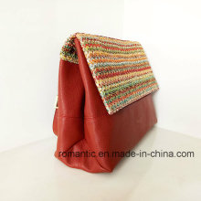 Brand Design Fashion Lady PU Leather Woven Handbags (NMDK-032803)