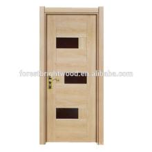Puerta de madera interior barata popular de la melamina del estilo simple