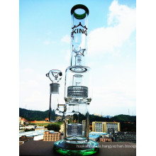 Großhandel 15.2inch Höhe Birdcage Prec Pyrex Glas Rauchen Wasser Rohr