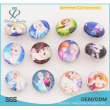 Frozen metal and plastic snaps button, kawaii snap button