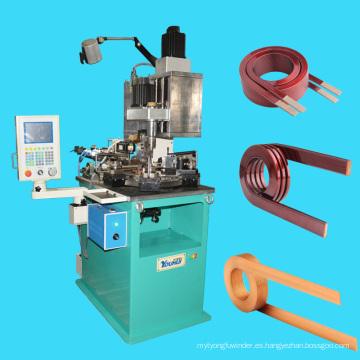 Bobinadora de bobina sin eje de CNC de múltiples ejes para bobinas de núcleo de aire de servicio pesado de alambres planos