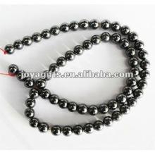 Perles rondes d'hématite magnétique en vrac de 6 mm 16 po