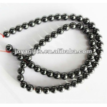 6MM Loose Magnetic Hematite Round Beads 16""