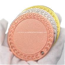 Medalla en blanco del deporte del grabado de la aleación de zinc al por mayor