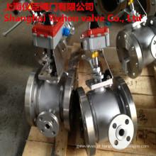 Válvula de esfera da isolação do revestimento do vapor com interruptor de limite