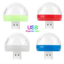 sound control USB Disco club Light star Portable Crystal Magic Ball RGB led stage lights