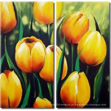 Pintura a óleo moderna decorativa da flor