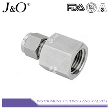 Stainless Steel Female Thread Connector Swagelok Pipe Fitting