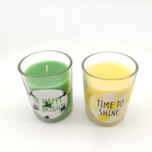 New Arrival Wax Scented Candle Beautiful Glass Scented Candle