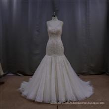 Robe de mariée délicate à la robe à queue de poisson