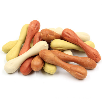 Assorted colorful long lasting chewy dog bone