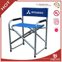 tall metal folding director chair