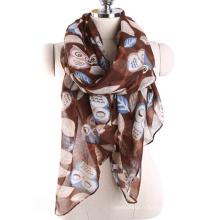 Confortable pas cher en gros Malaisie écharpe multi couleur hibou motif écharpe