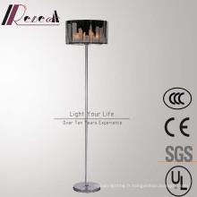 Lampe de plancher debout décorative d'acier inoxydable moderne d'hôtel